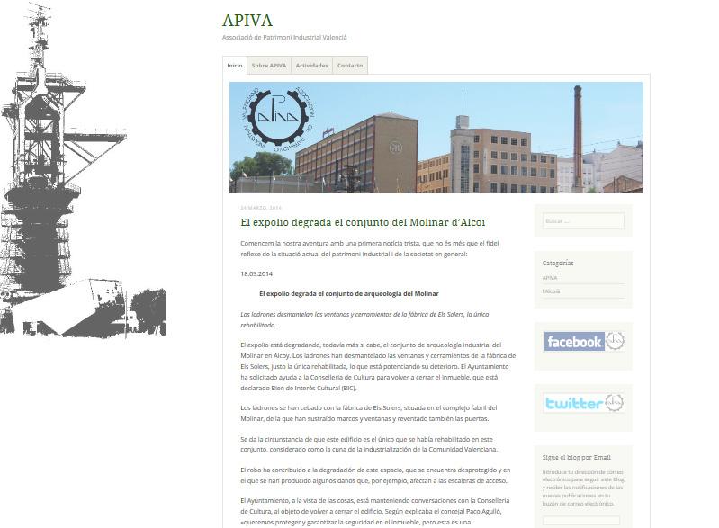 Asociación de Patrimonio Industrial Valenciano/Valencian Industrial Heritage Association (3/3)