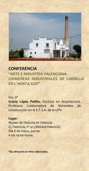 Conferencia en el Museu d´Història de València/ Conference