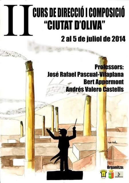 Cartel anunciador curso música. Autor: Diego Mestre. Fuente: http://cursdirecciooliva.wordpress.com/2014/03/06/diego-mestre-autor-del-cartell-del-curs/