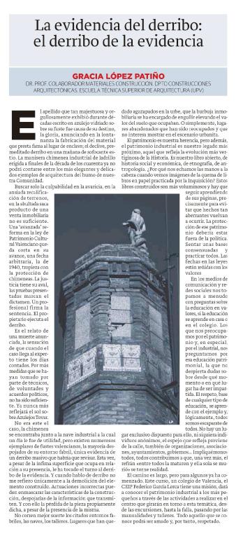 Texto aparecido en Las Provincias, 24 enero 2016